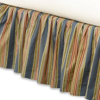 Wakefield Twin Bed Skirt in Blue