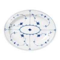 Royal Copenhagen Fluted Plain Large Oval Platter in Blue