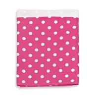 Glenna Jean Ellie & Stretch Crib Skirt in White/Pink