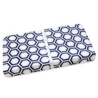 Wendy Bellissimo™ Mix & Match Hexagon Print Changing Pad Cover in Navy/Grey