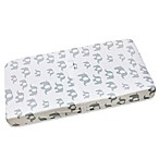 Wendy Bellissimo™ Mix & Match Elephant Print Changing Pad Cover in Grey/White