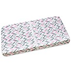 Wendy Bellissimo™ Mix & Match Chevron Print Changing Pad Cover in Pink/Grey