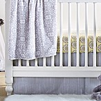 Wendy Bellissimo™ Mix & Match Dotted Stripe Crib Skirt in Grey