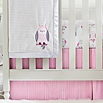 Wendy Bellissimo™ Mix & Match Dotted Stripe Crib Skirt in Pink