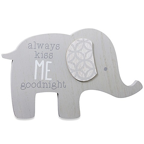 Wendy Bellissimo Mix Amp Match Elephant Wall Plaque