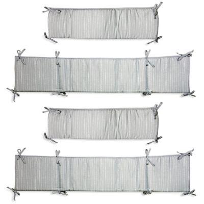Wendy BellissimoTM Dotted Stripe 4 Piece Crib Bumper In Grey White