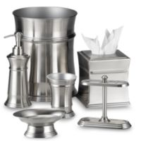 Pelham Satin Nickel Wastebasket