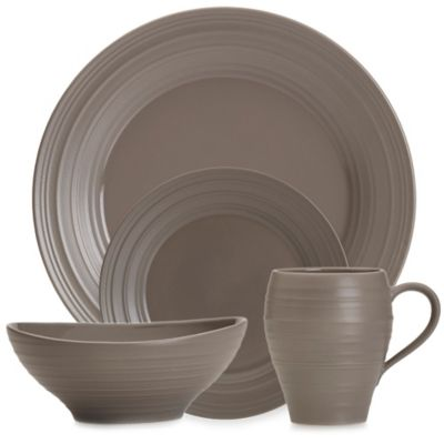 Mikasa® Swirl 4-Piece Place Setting in Mocha  sc 1 st  Bed Bath u0026 Beyond : bed bath and beyond dinnerware sets - pezcame.com