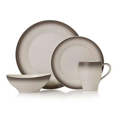 sc 1 st  Bed Bath u0026 Beyond & Mikasa® Swirl Ombre Dinnerware Collection in Mocha - Bed Bath u0026 Beyond