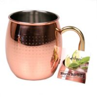Jodhpuri™ Moscow Mule Etched Dot Mug in Coppertone Stainless Steel