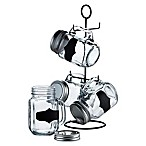 Blackboard Mason Jars with Stand (Set of 5)