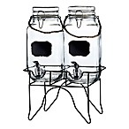 Newcastle Set of 2 Beverage Dispensers in Clear with Stand
