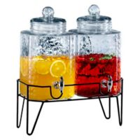 Style Setter Hamburg Double Beverage Dispenser Set with Stand