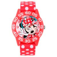 Disney® Minnie Mouse Children's 32mm Watch with Red Polka Dot Strap