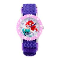 Disney® Ariel Children's 32mm Watch in Stainless Steel with Purple Strap