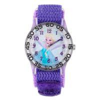 """Disney® """"Frozen"""" Elsa Children's 32mm Watch with Purple Strap"""