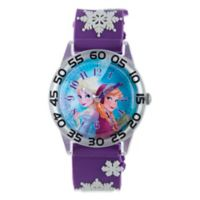 "Disney® ""Frozen"" Anna and Elsa Children's 32mm Watch with Purple Plastic Strap"