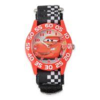 "Disney® ""Cars"" Lightning McQueen Children's 32mm Time Teacher Watch with Black Nylon Strap"