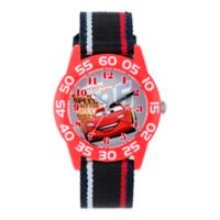 "Disney® ""Cars"" Children's 32mm Watch with Red and Black Striped Strap"