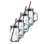 La Maison Mason Jar Mug with Lid and Straw