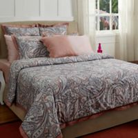 Vintage Stardust Queen Duvet Cover Set in Pink