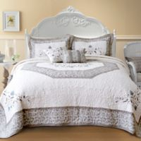 Nostalgia Home Agnes Queen Bedspread in Ivory/Taupe