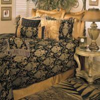 Sherry Kline China Art King Comforter Set in Black