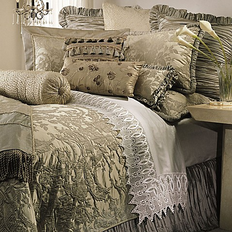 Austin Horn Collection Cascata Duvet Cover In Seamist