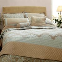 Quint Damask Queen Coverlet Set in Sage