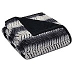 Sahara Ombre Herringbone Throw in Black