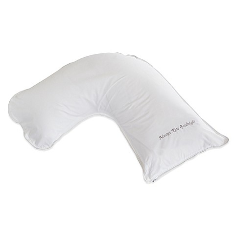 The pillow barr down quotalways kiss goodnightquot small side for Best pillow for side sleepers bed bath and beyond