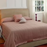 Lofty Herringbone Queen Coverlet Set in Pink