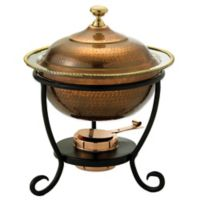 Old Dutch International 3 qt. Round Chafing Dish in Antique Copper