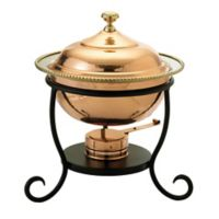Old Dutch International 3 qt. Round Chafing Dish in Décor Copper