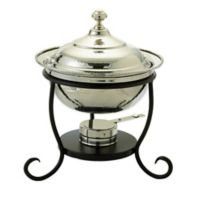 Old Dutch International 3 qt. Round Chafing Dish in Polished Nickel