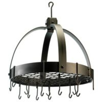 Old Dutch International Steel Dome Hanging 20-Inch Pot Rack in Oiled Bronze