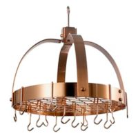 Old Dutch International Steel Dome Hanging 20-Inch Pot Rack in Satin Copper