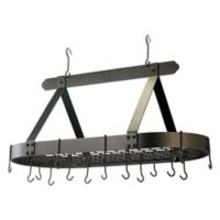 Old Dutch International 16-Hook Classic Hanging Pot Rack in Oiled Bronze