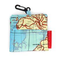 Kikkerland® Design World Map Travel Laundry Bag in Blue