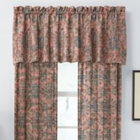 Jacobean Tailored Window Valance in Red