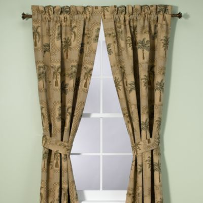 Palm Grove 84 Inch Window Curtain Panel Pair