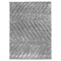 Linon Home Links Zig-Zag 1-Foot 10-Inch x 2-Foot 10-Inch Shag Accent Rug In Grey