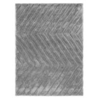 Linon Home Links Zig-Zag 8-Foot x 10-Foot Shag Area Rug in Grey