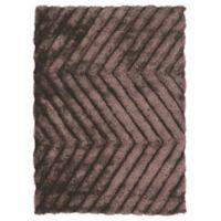 Linon Home Links Zig-Zag 8-Foot x 10-Foot Shag Area Rug in Chocolate