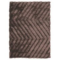 Linon Home Links Zig-Zag 8-Foot x 10-Foot Shag Area Rug in Chocolate