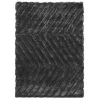 Linon Home Links Zig-Zag 8-Foot x 10-Foot Shag Area Rug in Charcoal