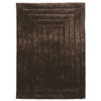 Linon Home Links Squared 1-Foot 10-Inch x 2-Foot 10-Inch Shag Accent Rug in Chocolate