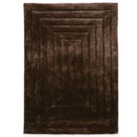 Linon Home Links Squared 5-Foot x 7-Foot Shag Area Rug in Chocolate