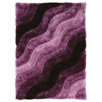 Linon Home Links Wave 5-Foot x 7-Foot Shag Area Rug in Purple