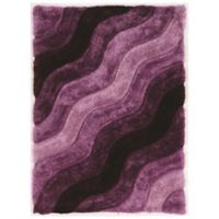 Linon Home Links Wave 8-Foot x 10-Foot Shag Area Rug in Purple